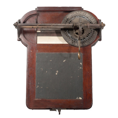 Photograph of the Hughes typewriter.