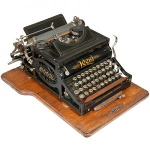 Photograph of the Ideal typewriter.