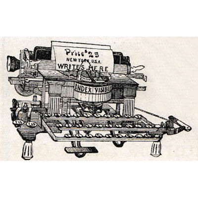 Period illustration of the Index Visible Typewriter.