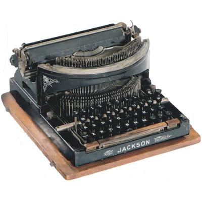 Photograph of the Jackson typewriter.