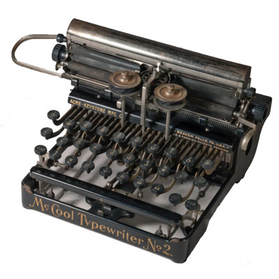 Photograph of the McCool Typewriter.