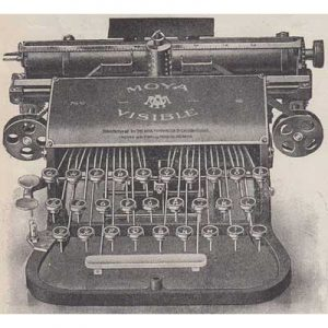 Illustration of the Moya Typewriter.