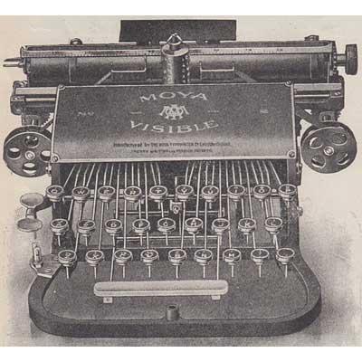 Illustration of the Moya Typewriter.