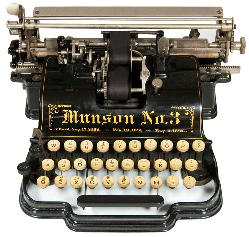 Munson 3 typewriter