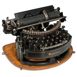 Photograph of the National 2 typewriter.