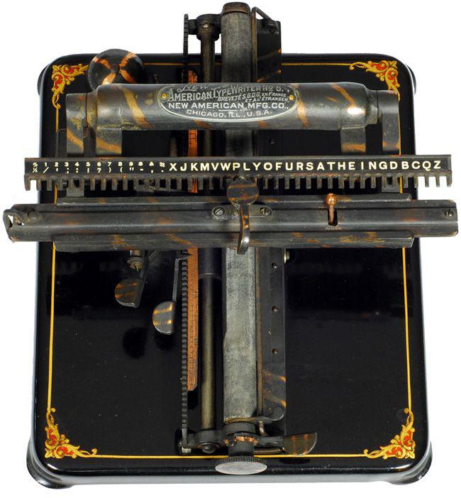 New American 5 typewriter