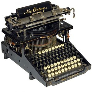 Photograph of the Caligraph New Century 6 typewriter.