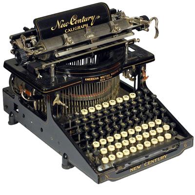 Photograph of the Caligraph New Century 6 typewriter.