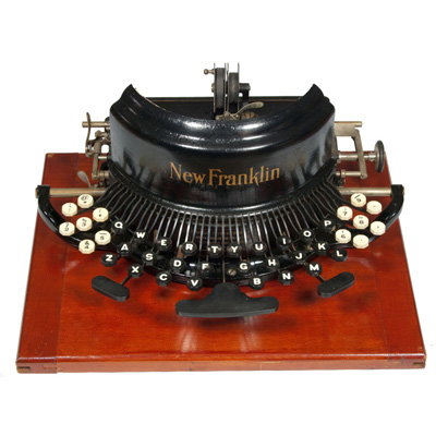 Photograph of the Franklin New Model typewriter.