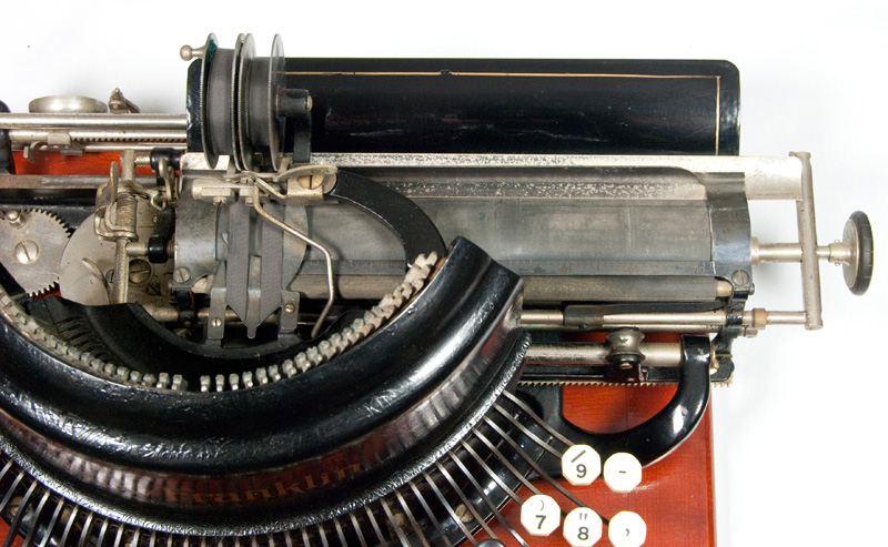 Photograph of the Franklin - New Model typewriter seen from above.