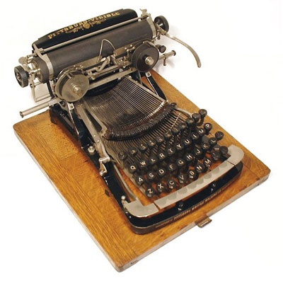 Photograph of the Pittsburg Visible typewriter.