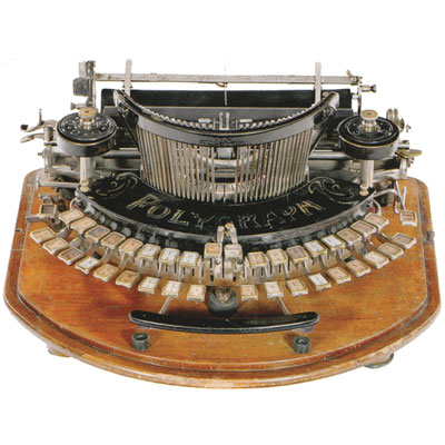 Photograph of the Polygraph Typewriter.