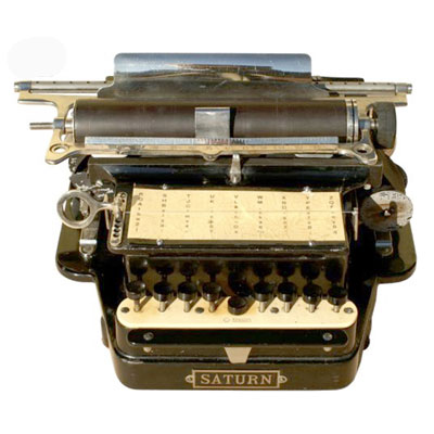 Photograph of the Saturn Typewriter.