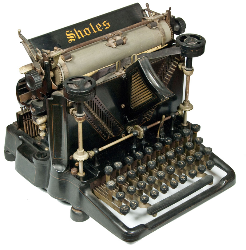 Sholes Visible 1 typewriter