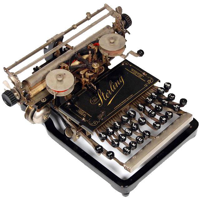 Sterling typewriter 1