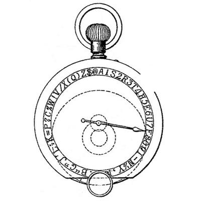 Taurus typewriter patent illustration.