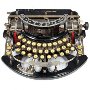 Photograph of the TYPO typewriter.