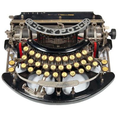 Photograph of the TYPO typewriter.