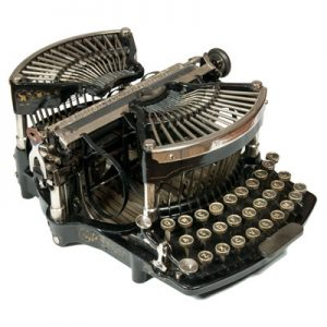 Photograph of the Williams 1 typewriter.