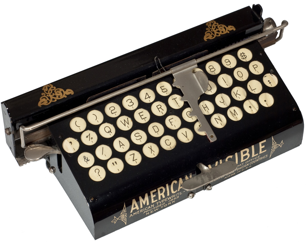 Photograph of the American 1 Visible typewriter.