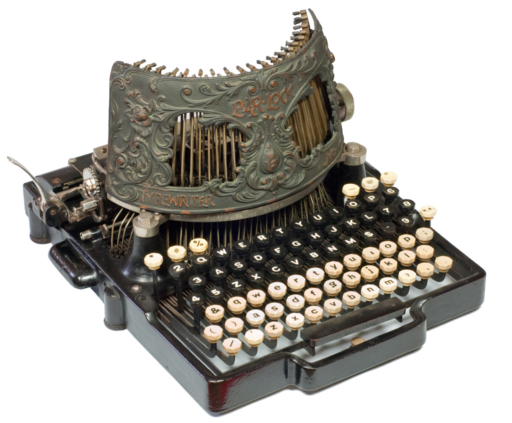 Photograph of the Bar - Lock 4 typewriter.