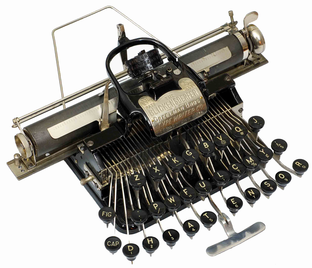 Photograph of the Blickensderfer 5 typewriter.
