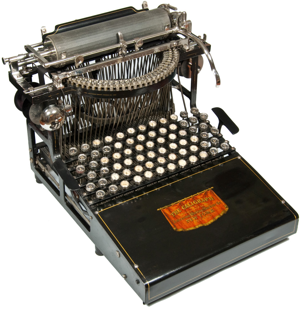 Photograph of the Caligraph 2 typewriter.