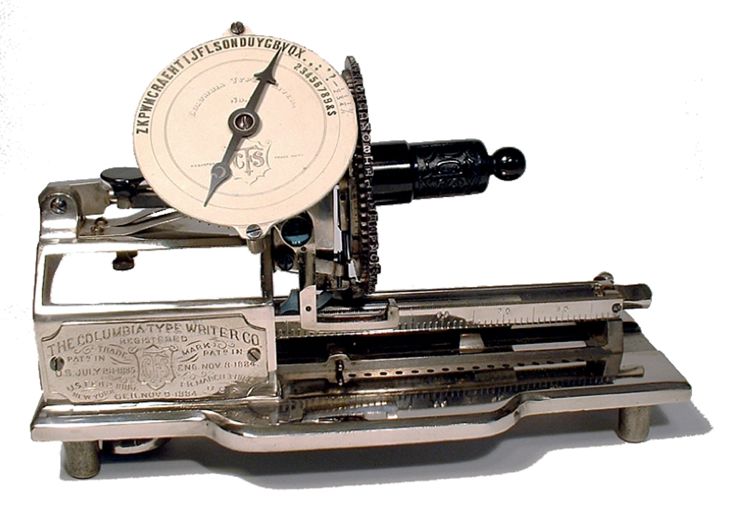 Photograph of the Columbia 2 typewriter.