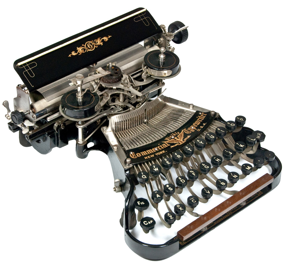 Photograph of the Commercial Visible 6 typewriter.