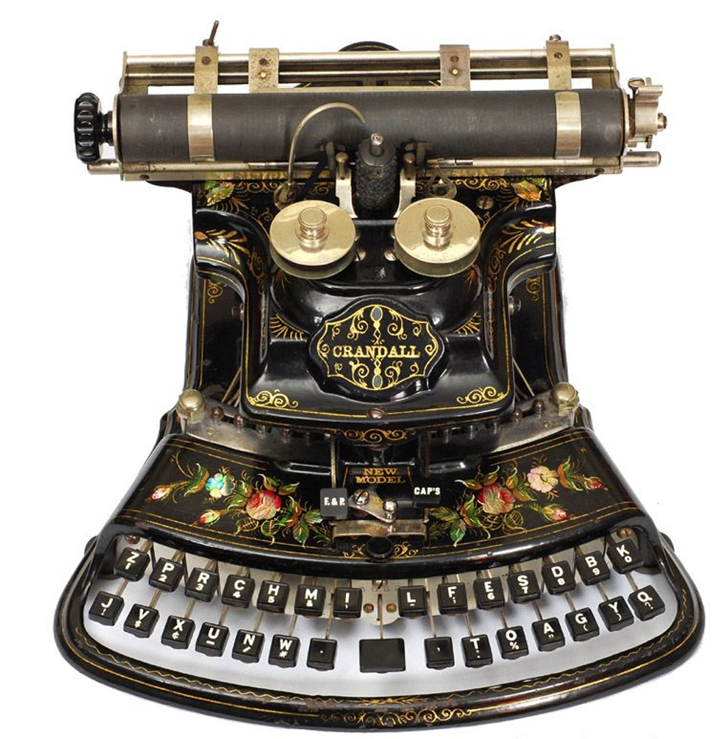 Photograph of the Crandall New Model typewriter.