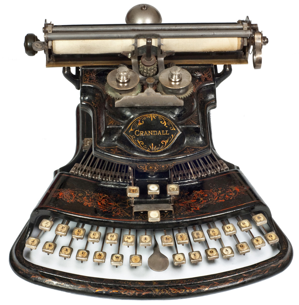 Photograph of the Crandall 1 typewriter.