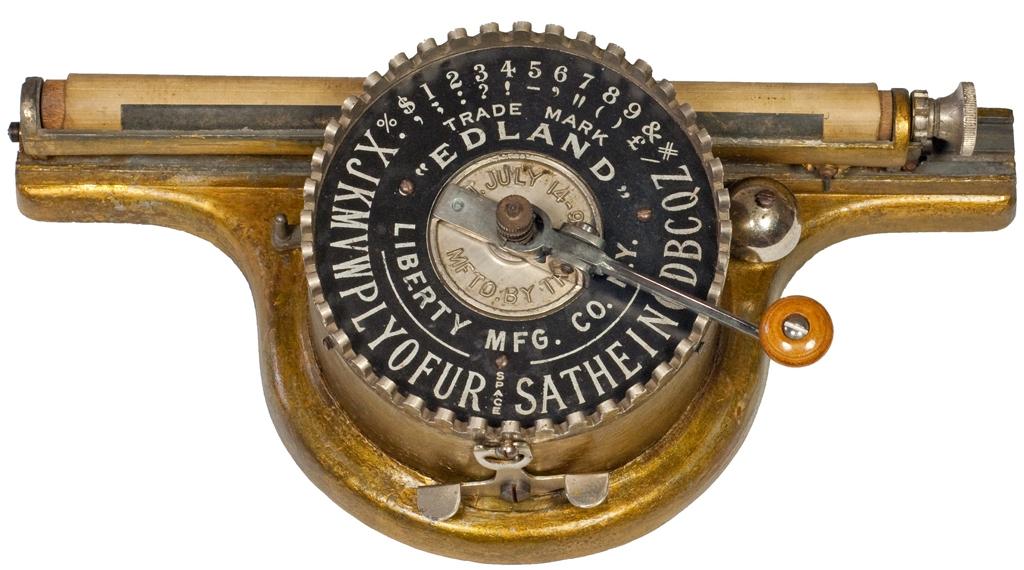 Photograph of the Edland typewriter.