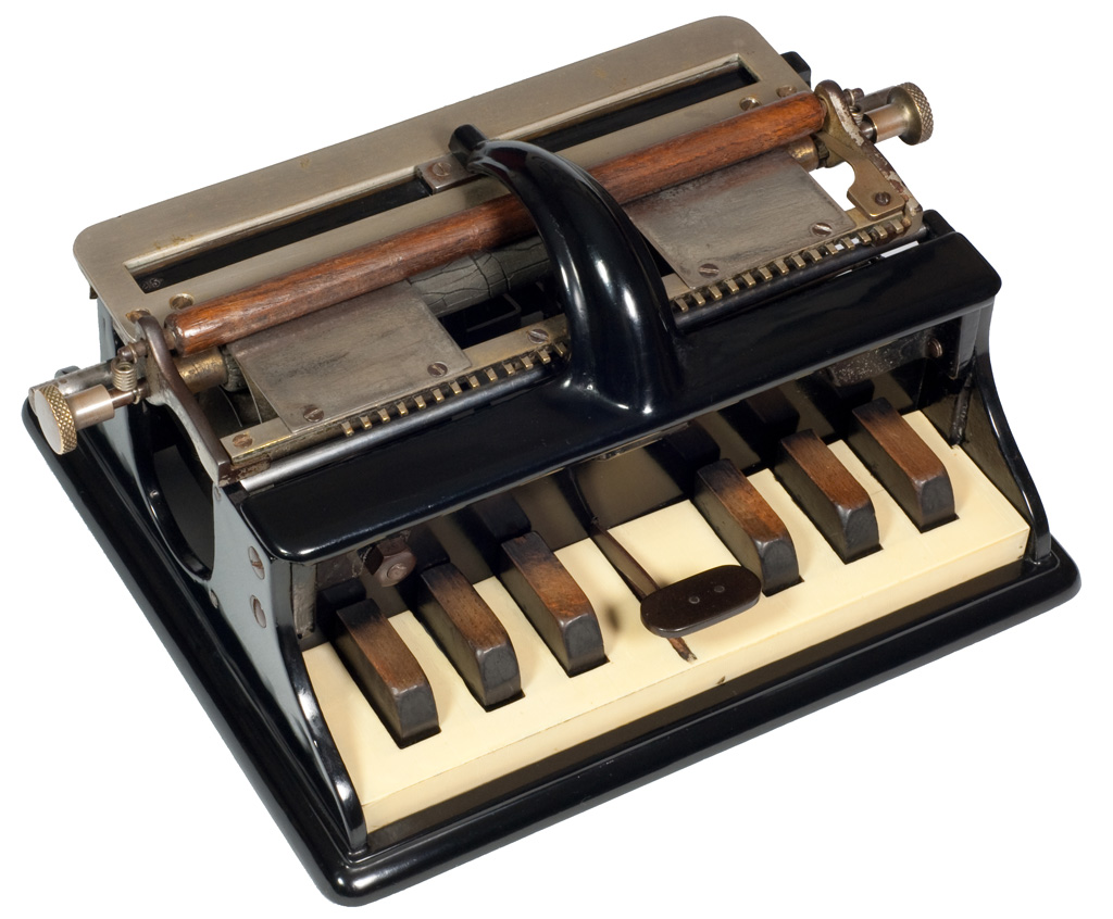 Photograph of the Hall 1 Braille writer.
