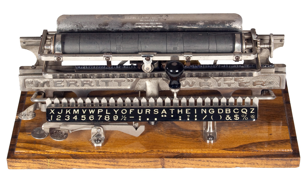 Photograph of the Merritt typewriter.