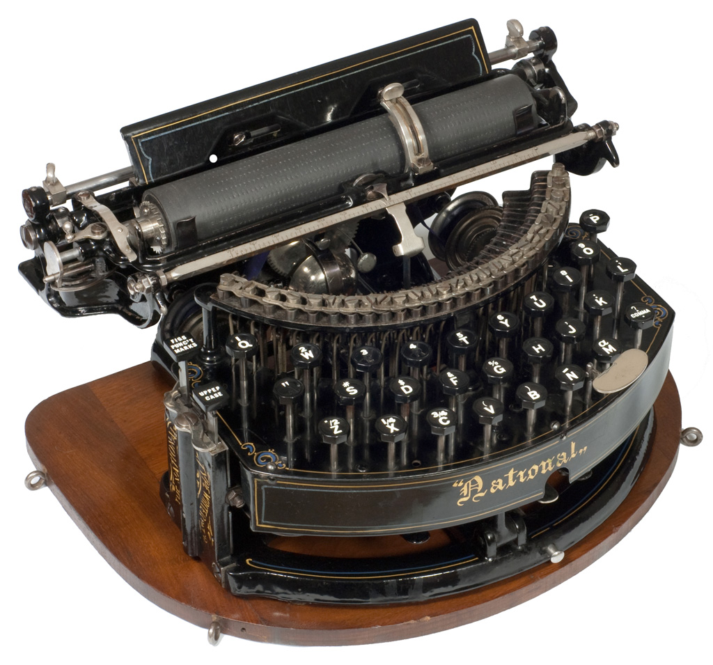 Photograph of the National 1 typewriter.