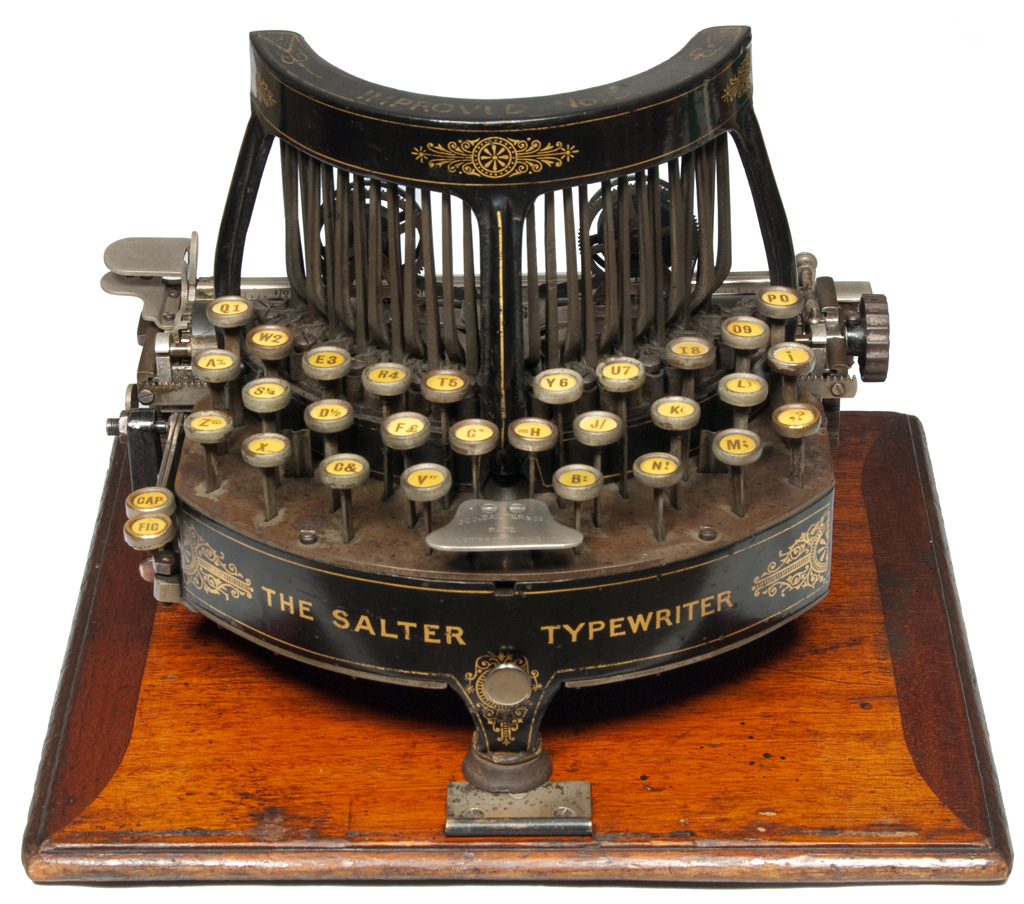 Photograph of the Salter 5 typewriter.