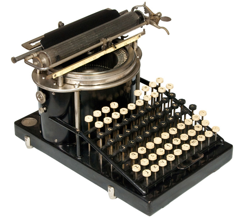 Photograph of the Yost 1 typewriter.