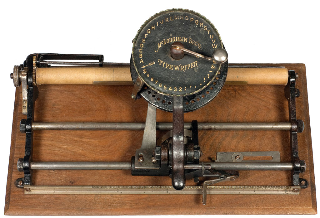 Photograph of the McLoughlin Brothers Typewriter.