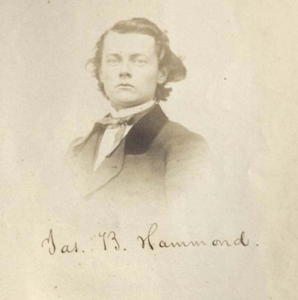 Photograph of James Hammond in his early 20s.