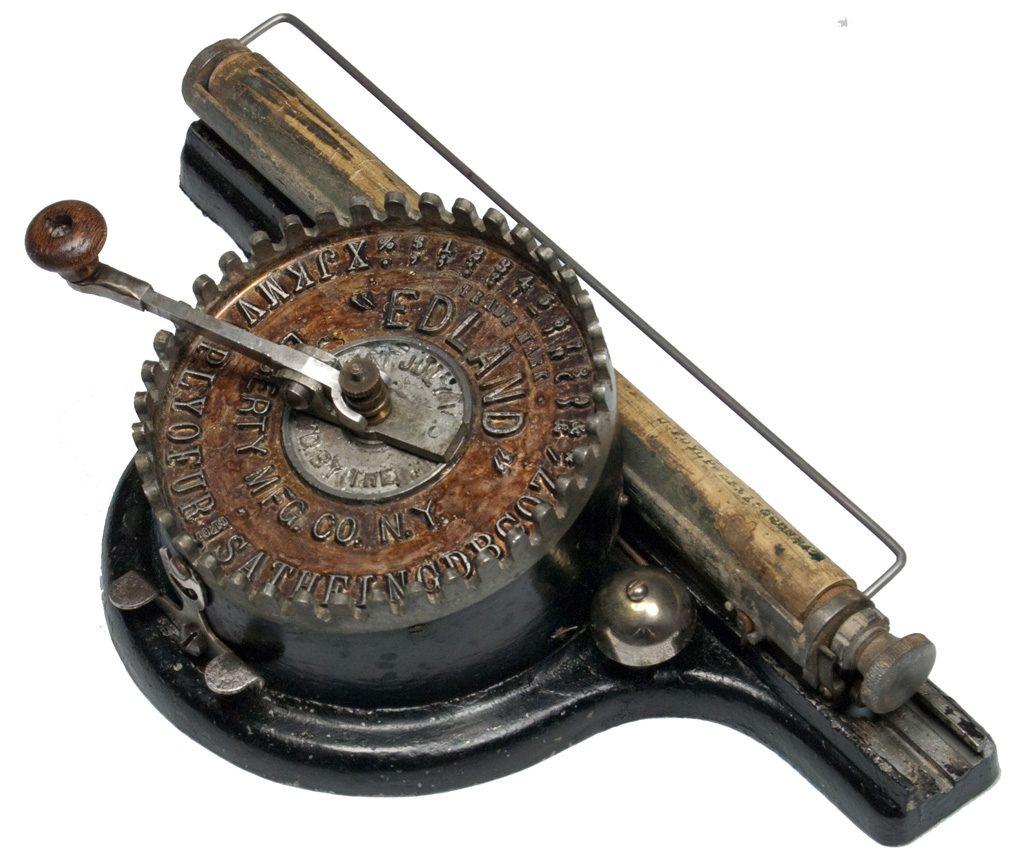 Edland typewriter from 1892.