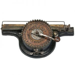 Edland typewriter from 1892.