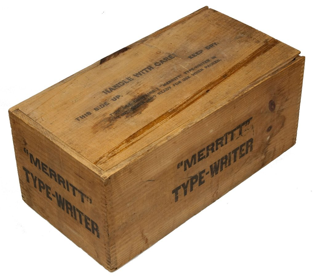 Merritt typewriter shipping case