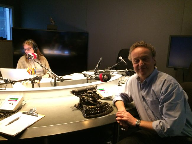 Martin at CBC Radio with Jill Deacon and the show Here and Now.