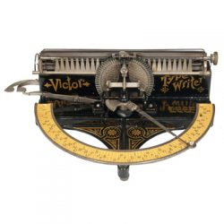 Photograph of the Victor typewriter.